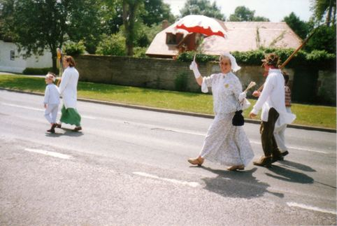 Bet Druce in the parade - Photograph: Bet Druce