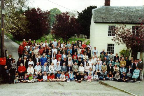 Photograph of the residents of Tilshead