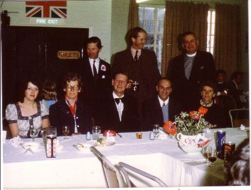 Standing - Michael Teale, Michael Rowlandson, Rev. Fred Chamberlain. Seated - Pamela Mundy, Bet Druce, Alan Ogburn, Bob Read, Evelyn Read