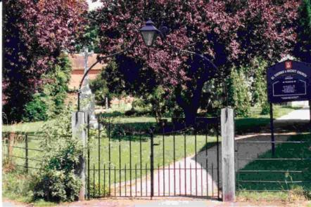 Church gates presented to the Church by the Tilshead Village Millennium Committee - Photograph: Michael Teale
