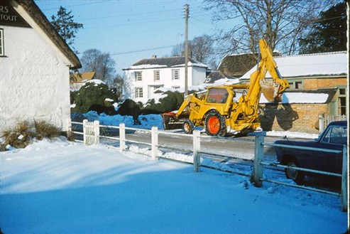 Clearing the snow, 1963