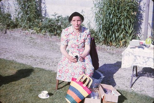 Mrs Hughes at the Fete, 1964