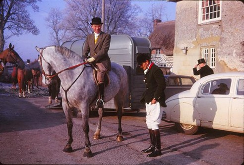 The Hunt Meet at the Rose and Crown Pub, 1965