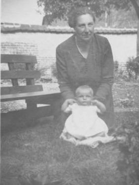 Laura Potter (Granny) and Adrian, May 1947