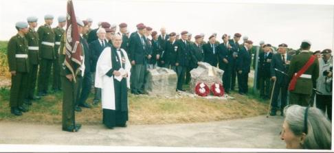 Ceremony at the Memorial to the Glider Pilot Regiment in Tilshead - Photograph - Anita Mundy