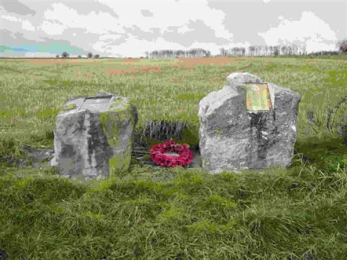 Memorials to the Glider Pilot Regiment and the 8th (Midland Counties) Battalion The Parachute Regiment - Photograph: Rosemary Meeke