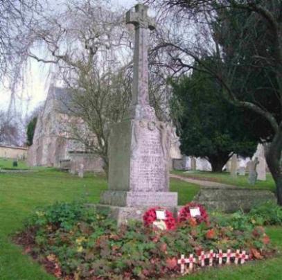 The War Memorial - St. Thomas à Becket Church Yard - Photograph: Rosemary Meeke