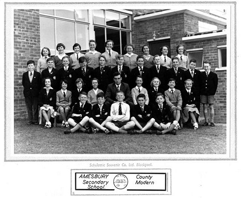 Class 1a Amesbury Secondary School, 1958