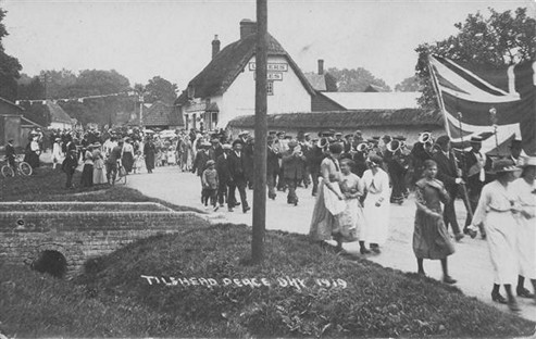 Tilshead Peace Day, 1919