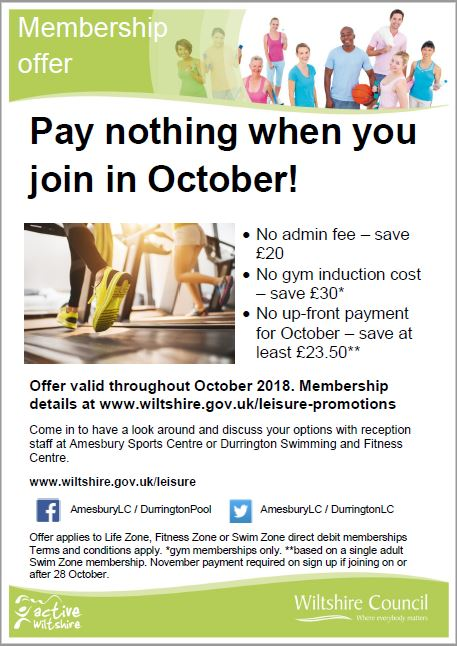 2018-10 Leisure Centre Offers