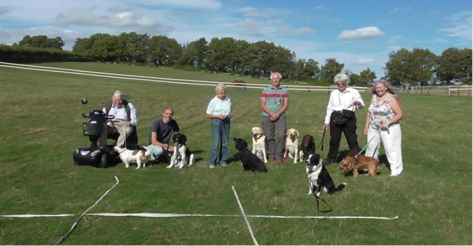 Photograph of Some of the Owners and their Dogs at the recent Event Day